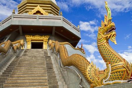 thani: Serpent of thai temple.