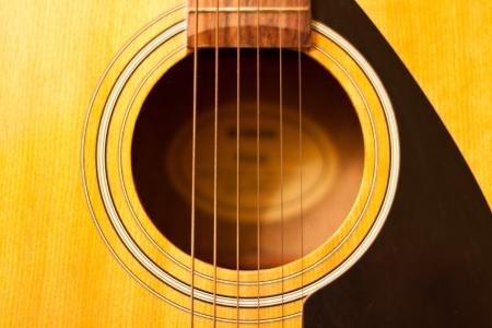 Acoustic guitar wood color close - up. The guitar background. Reklamní fotografie