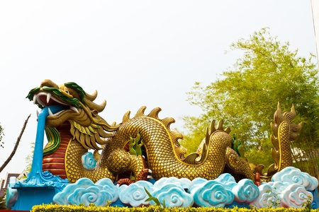 dragon statue at thailand photo