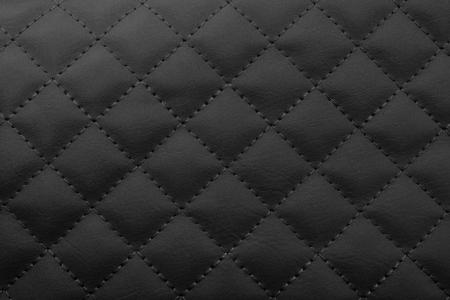 Black leather background,Brown leather  texture. Standard-Bild
