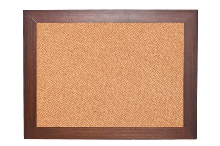 cork board isolated on white background photo