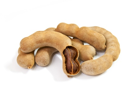 group of tamarind isolated on white background. photo