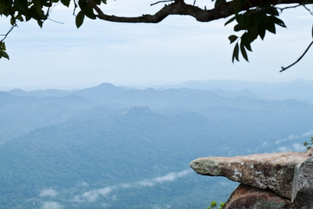 Viewpoint on high mountain ,Pha hin ngam national park, Chaiyapoom,Thailand photo