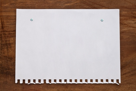 paper page notebook  on  wood backgrounds  photo