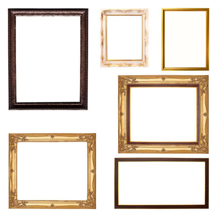 Set of  frame isolated on white background photo