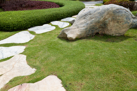 stone pathway in a Green Park photo