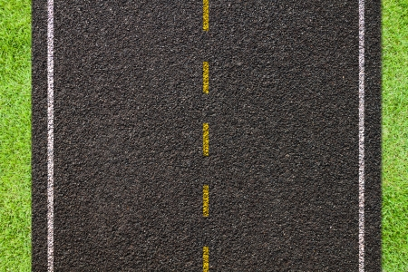 Asphalt road texture,yellow and white  line on road photo