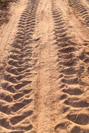 wheel tracks detail photo