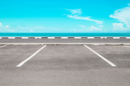 Empty parking area with sea landscape Stock Photo - 25789046
