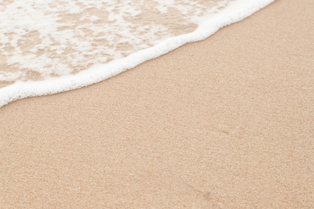 Soft wave of  sea on  sandy beach