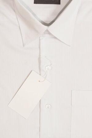 Label of news men shirt photo