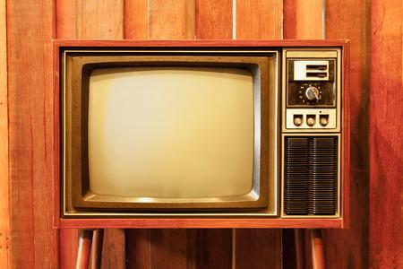 Oude vintage televisie Stockfoto