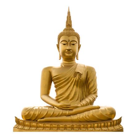白地に金色の Buddha.Buddha。