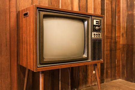 old television: Old vintage television