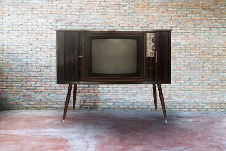 Retro television or tv in  room