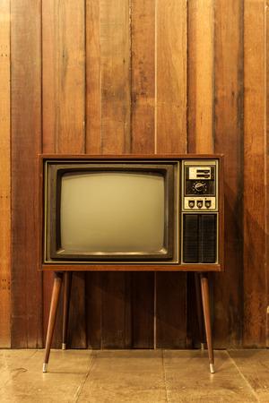 Oude vintage televisie of tv Stockfoto