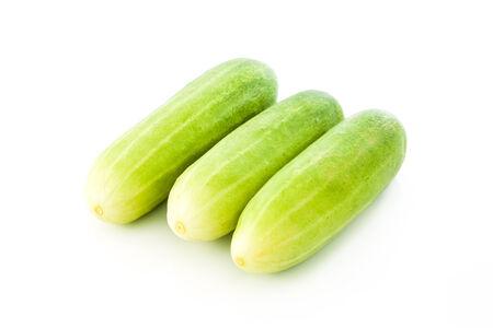 english cucumber: cucumber  isolated on white background Stock Photo