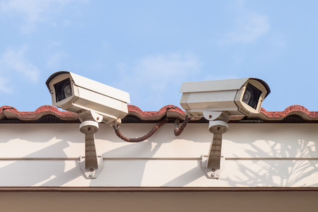 Security Camera or CCTV on roof at home