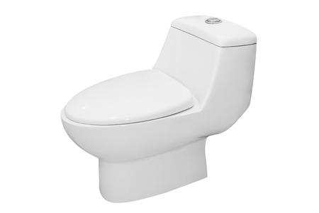 White toilet bowl isolated on white background photo
