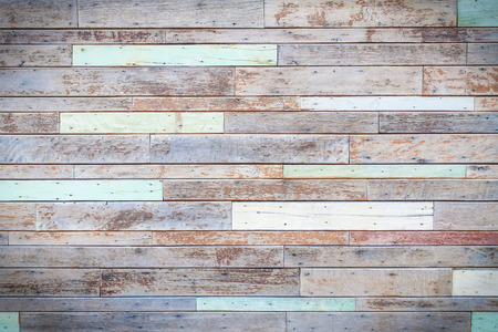 multicolored background: vintage wooden wall background