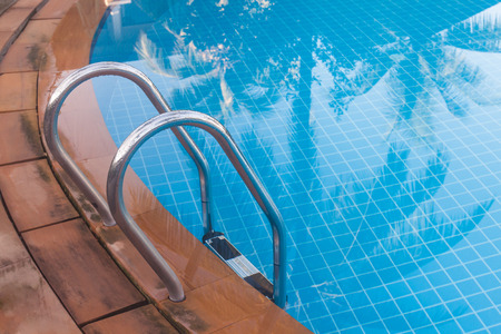 swimming pool with blue water photo