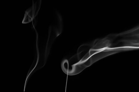 isolated on black: White smoke  on black background