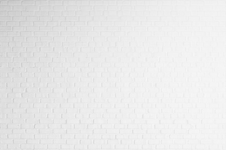white brick wall texture for background Banco de Imagens