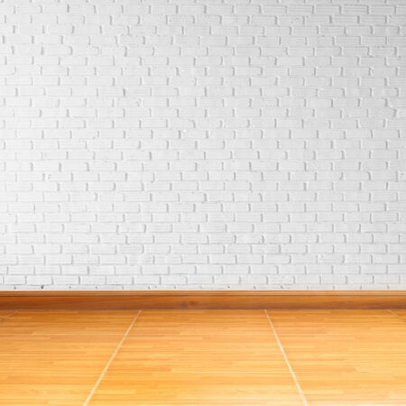 indoor background: room interior with white brick   wall
