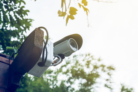private viewing: Security Camera or CCTV at home Stock Photo