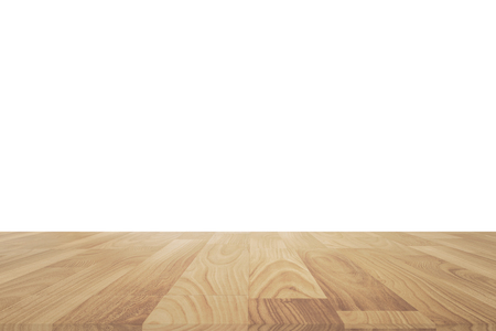 white wood floor: Wood table or wood floor isolated on white background Stock Photo