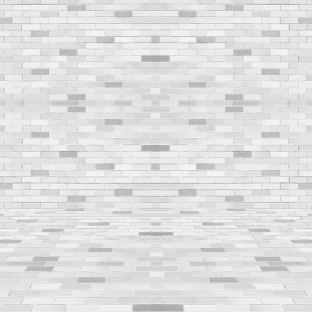 Room perspective white tile wall texture for background