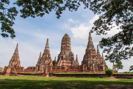 Wat Chaiwatthanaram in Ayutthaya , public temple at Thailand