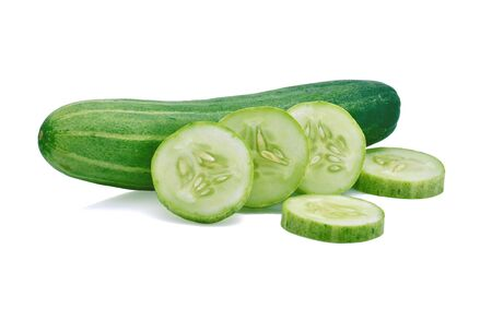 Cucumber isolated on white background Banque d'images