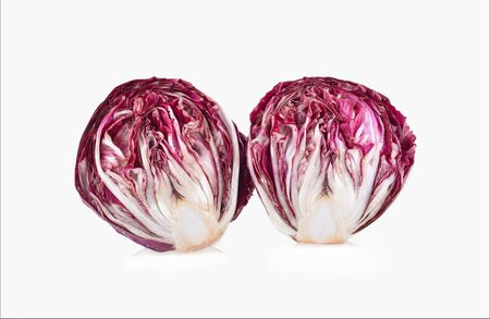 Red cabbage isolated on white background.
