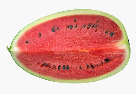 Sliced of watermelon isolated on white background Top view. Фото со стока
