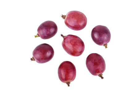 Grapes Isolated on a white background Top view.