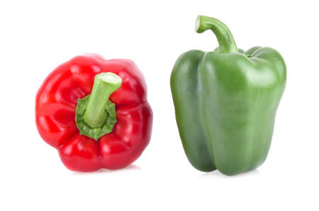 Sweet bell pepper isolated on white background.