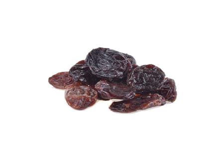 Raisins isolated on white background Фото со стока