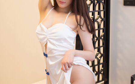Asian Nude Girls Teen Stock Photo