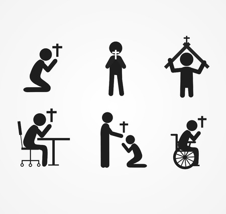 pray sit icon  vector illustration Illustration