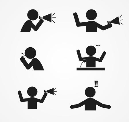 business  Yell icon design  vector illustration Illustration