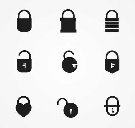 Lock with key icon design vector illustration