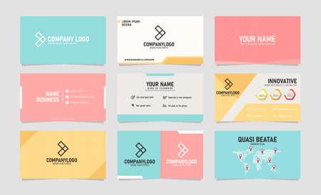 Modern creative business card design template Vector illustration