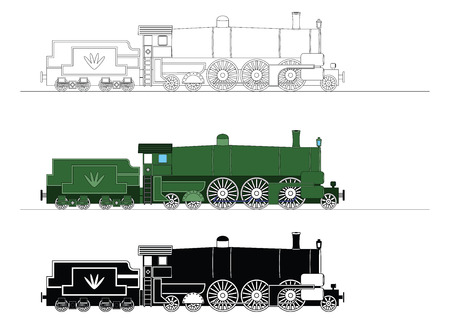 Children's_trains Vector Illustration