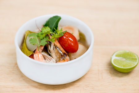 favorite soup: Thai spicy herb soup tom yum goong