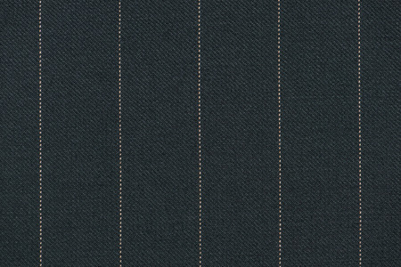 Close up of pinstriped fabric texture background. Detail of Knit wool suiting Stock Photo