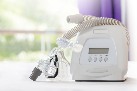 Sleep apnea therapy,CPAP machine with mask and hose
