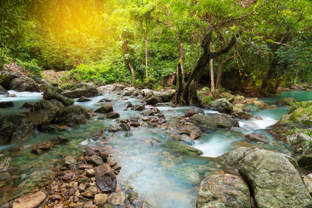 滝の風景です。  Salika 滝、Nakornnayok、タイでの旅行先。