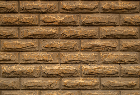 Background of gray brick wall pattern texture.