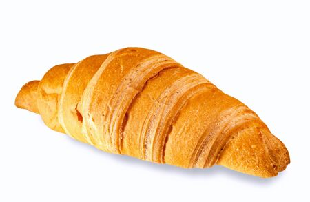 Croissant isolated on white. The concept of food.